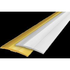 Алюминиевый порог 38х3 мм с открытым типом, 1.00 м